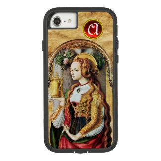 SAINT MARY MAGDALENE Parchment Ruby Gem Monogram Case-Mate Tough Extreme iPhone 8/7 Case