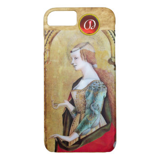 SAINT MARY MAGDALENE Parchment Ruby Gem Monogram iPhone 8/7 Case