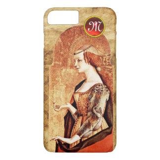 SAINT MARY MAGDALENE Parchment Ruby Gem Monogram iPhone 8 Plus/7 Plus Case