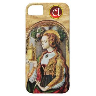 SAINT MARY MAGDALENE Parchment Ruby Gem Monogram iPhone SE/5/5s Case
