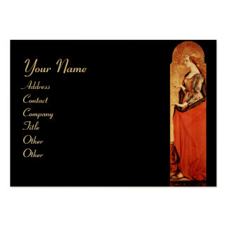 SAINT MARY MAGDALENE Red,Black,Gold Metallic Large Business Card