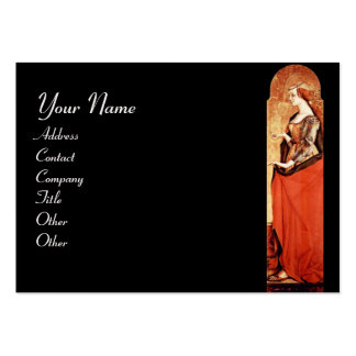 SAINT MARY MAGDALENE Red,Gold,Black Pearl Paper Large Business Card