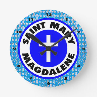 Saint Mary Magdalene Round Clock