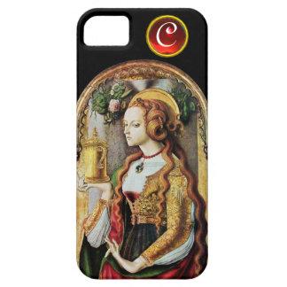 SAINT MARY MAGDALENE  Ruby Gem Monogram ,Black iPhone SE/5/5s Case