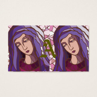 saint mary,mother of God,modern graphic picture, r Business Card