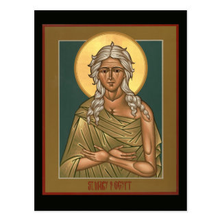 Saint Mary of Egypt Prayer Card