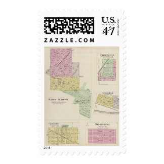 Saint Marys, Fostoria, and St. George, Kansas Postage