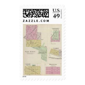 Saint Marys, Fostoria, and St. George, Kansas Postage Stamp