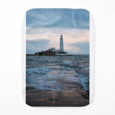 Saint Mary's Lighthouse at Whitley Bay Baby Burp Cloth