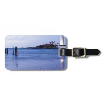 Beach Themed Saint Mary's Lighthouse at Whitley Bay Bag Tag