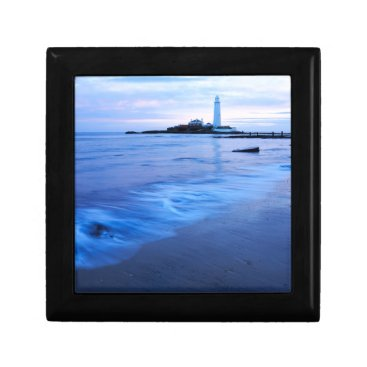 Saint Mary's Lighthouse at Whitley Bay Jewelry Box