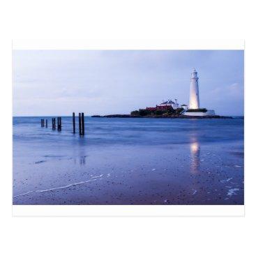 Beach Themed Saint Mary's Lighthouse at Whitley Bay Postcard