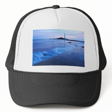 Saint Mary's Lighthouse at Whitley Bay Trucker Hat