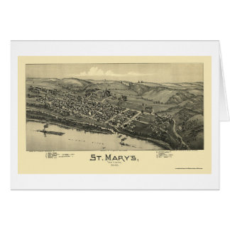 Saint Mary's, WV Panoramic Map - 1895 Card