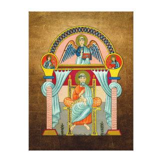 Saint Matthew 6th Century Icon Stretched Canvas Prints