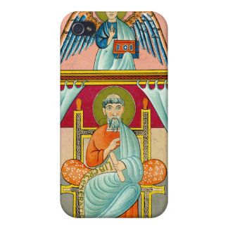 Saint Matthew 9th Century Medieval Fine Art Cases For iPhone 4
