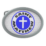 Saint Matthew Oval Belt Buckles
