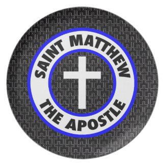 Saint Matthew the Apostle Melamine Plate
