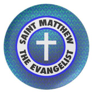 Saint Matthew the Evangelist Melamine Plate