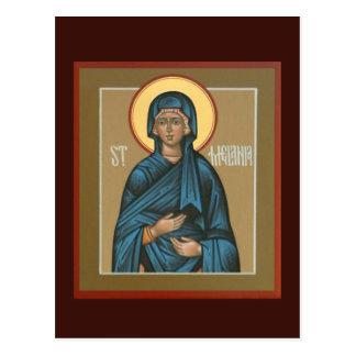 Saint Melania Prayer Card