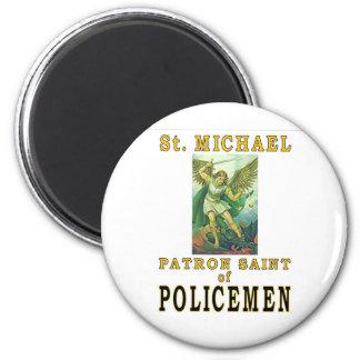 SAINT MICHAEL 2 INCH ROUND MAGNET