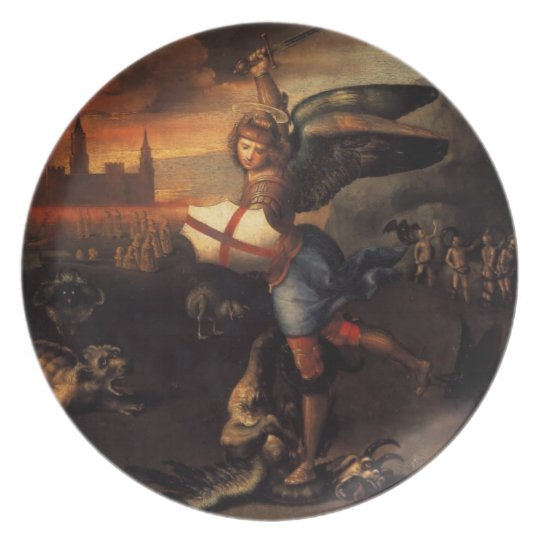 Saint Michael and the Dragon Melamine Plate