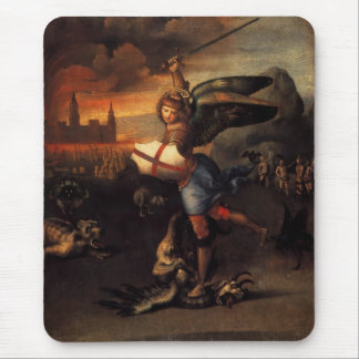 Saint Michael And The Dragon Mouse Pad