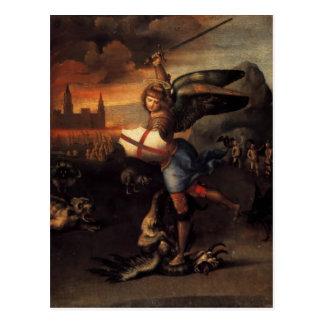 Saint Michael and the Dragon postcard