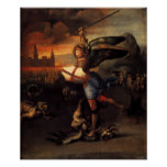Saint Michael And The Dragon Posters