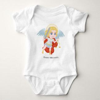 Saint Michael Archangel Cute Catholic Baby Bodysuit