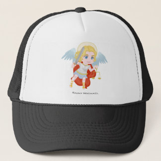 Saint Michael Archangel Cute Catholic Trucker Hat