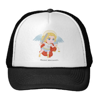 Saint Michael Archangel Cute Catholic Trucker Hat
