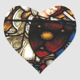 SAINT MICHAEL ARCHANGEL HEART STICKER