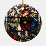 SAINT MICHAEL ARCHANGEL Double-Sided CERAMIC ROUND CHRISTMAS ORNAMENT