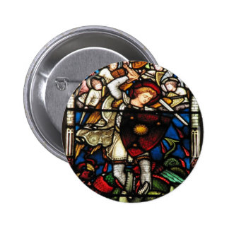 SAINT MICHAEL ARCHANGEL PINBACK BUTTON