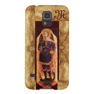 SAINT MICHAEL ARCHANGEL WITH DRAGON monogram Galaxy S5 Cover