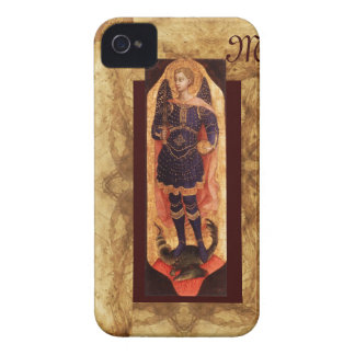 SAINT MICHAEL ARCHANGEL WITH DRAGON monogram iPhone 4 Case-Mate Case