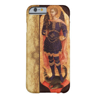 SAINT MICHAEL ARCHANGEL WITH DRAGON OLD PARCHMENT BARELY THERE iPhone 6 CASE
