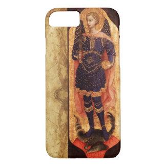 SAINT MICHAEL ARCHANGEL WITH DRAGON OLD PARCHMENT iPhone 7 CASE