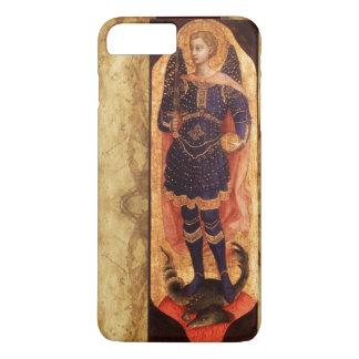 SAINT MICHAEL ARCHANGEL WITH DRAGON OLD PARCHMENT iPhone 7 PLUS CASE