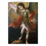 Saint Michael banishes the devil to the abyss Card