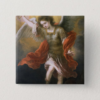 Saint Michael banishes the devil to the abyss Pinback Button