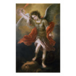 Saint Michael banishes the devil to the abyss Poster