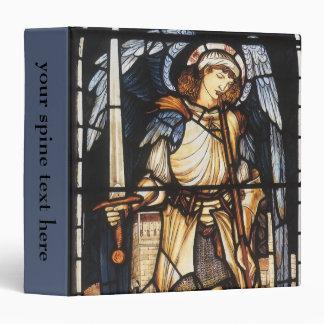 Saint Michael by Burne Jones, Vintage Archangel 3 Ring Binder
