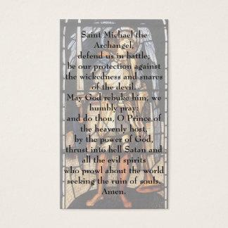 Saint Michael by Burne Jones, Vintage Archangel Business Card