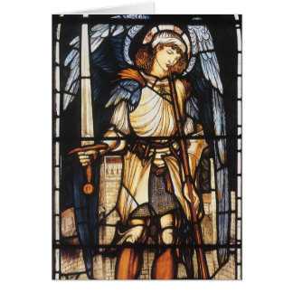 Saint Michael by Burne Jones, Vintage Archangel Card