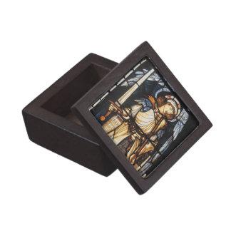 Saint Michael by Burne Jones, Vintage Archangel Jewelry Box