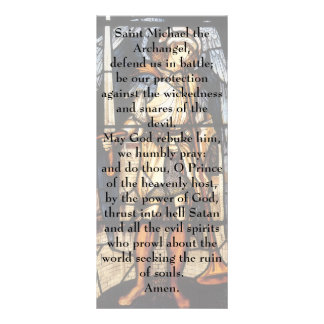 Saint Michael by Burne Jones, Vintage Archangel Personalized Rack Card