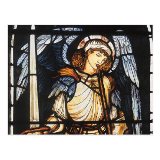 Saint Michael by Burne Jones, Vintage Archangel Postcard