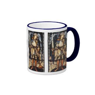 Saint Michael by Burne Jones, Vintage Archangel Ringer Mug